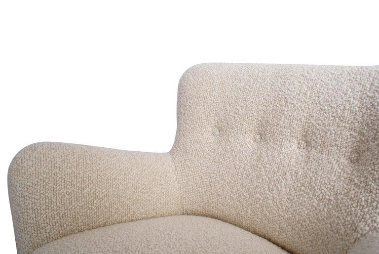 Scandinavian Modern Fritz Hansen Pair of Easy Chairs, Model 1669 For Sale