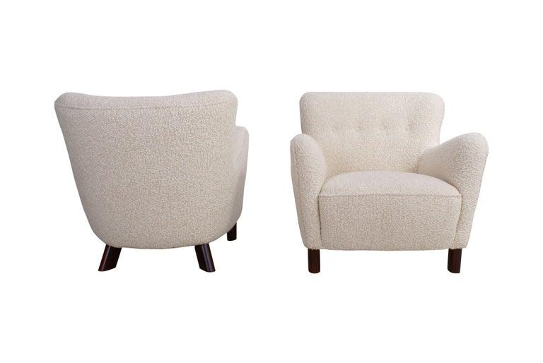 Danish Fritz Hansen Pair of Easy Chairs, Model 1669 For Sale