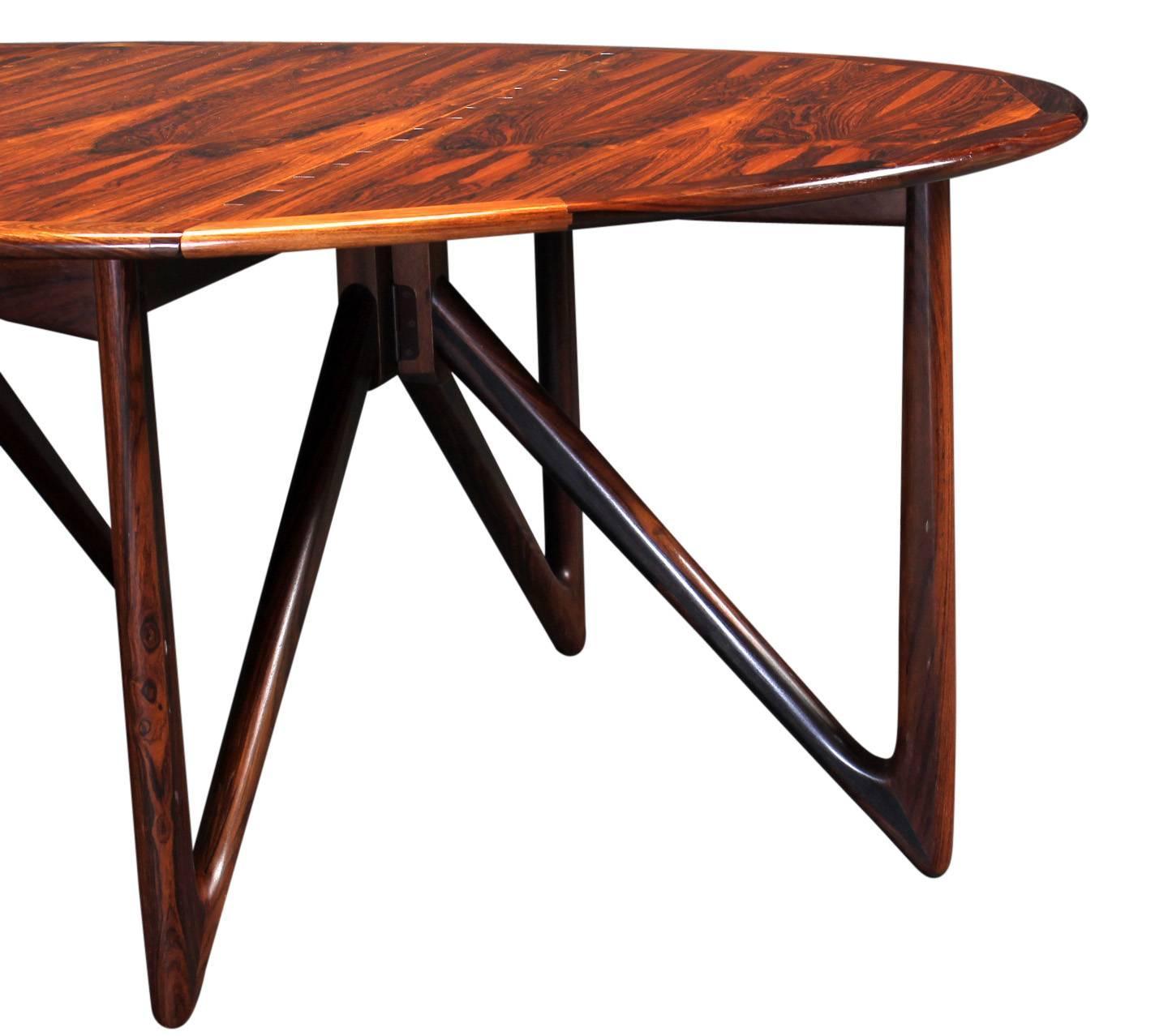 Niels Koefoed Drop Leaf Dining Table in Brazilian Rosewood  : 40986264z from www.1stdibs.com size 1424 x 1278 jpeg 99kB