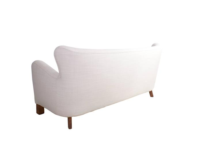 Mid-20th Century A. J. Iversen Freestanding Three-Seat Sofa, Denmark, 1939 For Sale