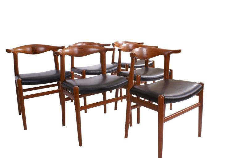 Hans Wegner Set Of Six Cow Horn Chairs For Johannes Hansen For - Hansen patio furniture