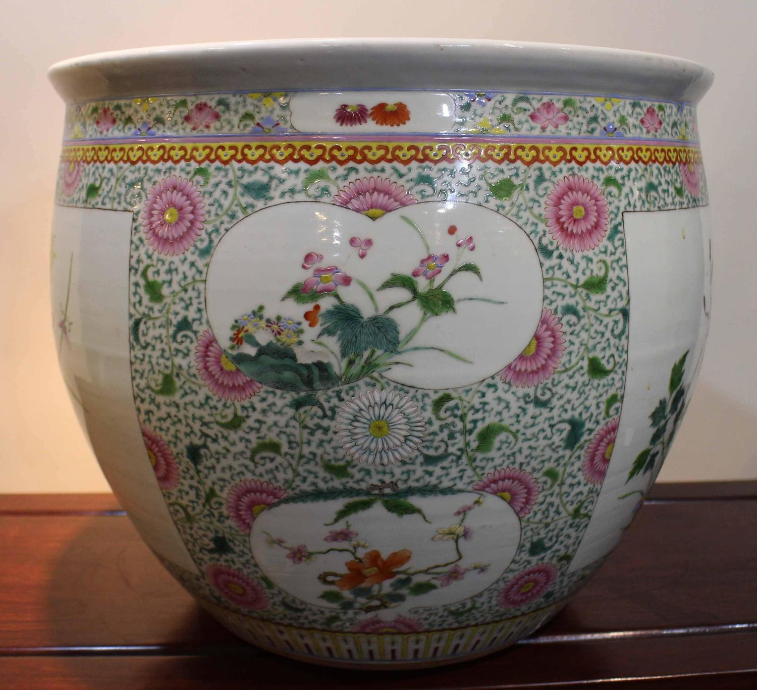 Antique Chinese Famille Rose Fish Bowl For Sale At 1stdibs