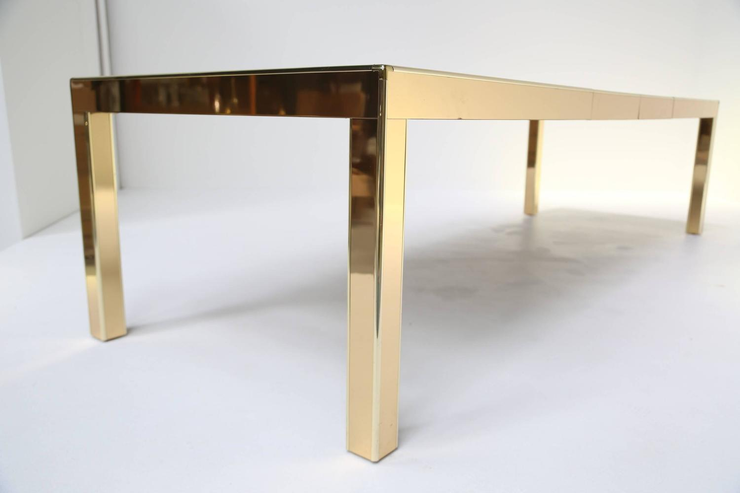 Mid century Extending Brass Dining Table by Mastercraft