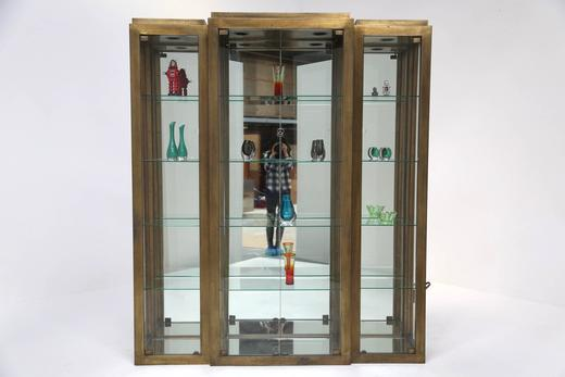 Design Vitrine mid century brass display cabinet vitrine at 1stdibs