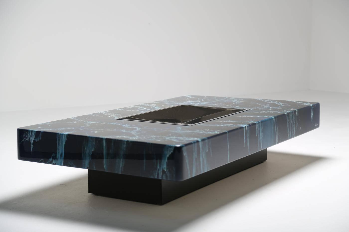 Willy Rizzo Cocktail Coffee Table For Sale At 1stdibs