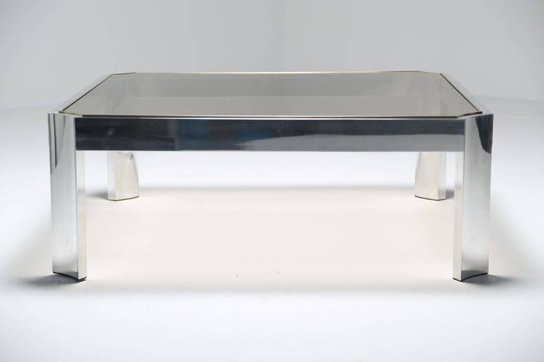 Beautiful Mid Century Aluminum Coffee Table. 3