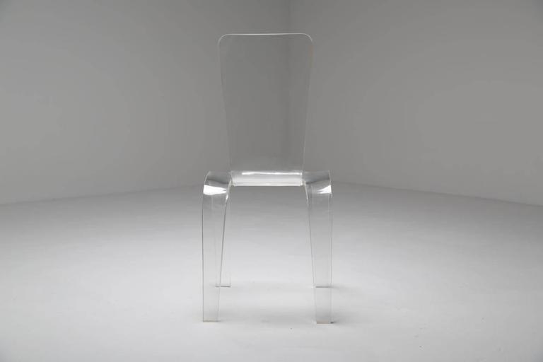Lucite Desk or Vanity Chair For Sale 2
