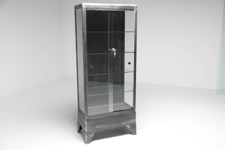 Vintage Metal Medical Cabinet At 1stdibs