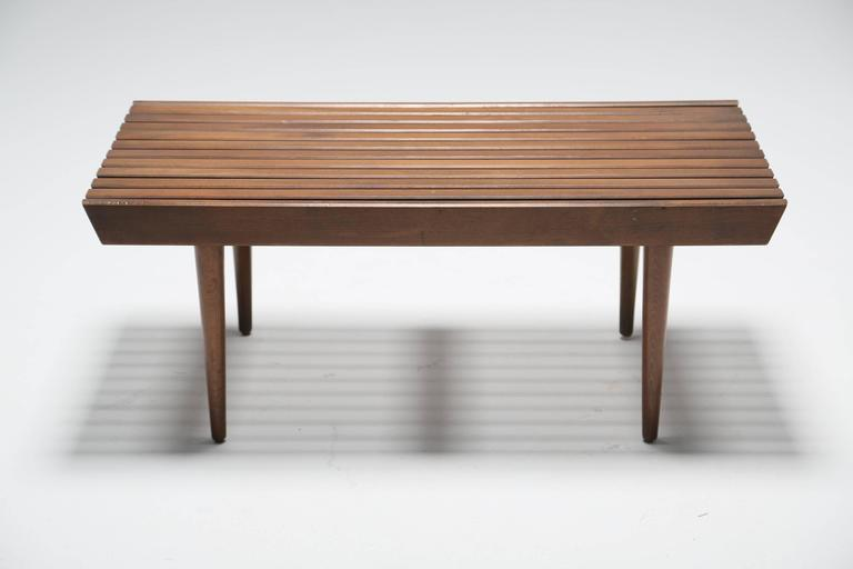 Small Wooden Slatted Bench Circa 1960 At 1stdibs