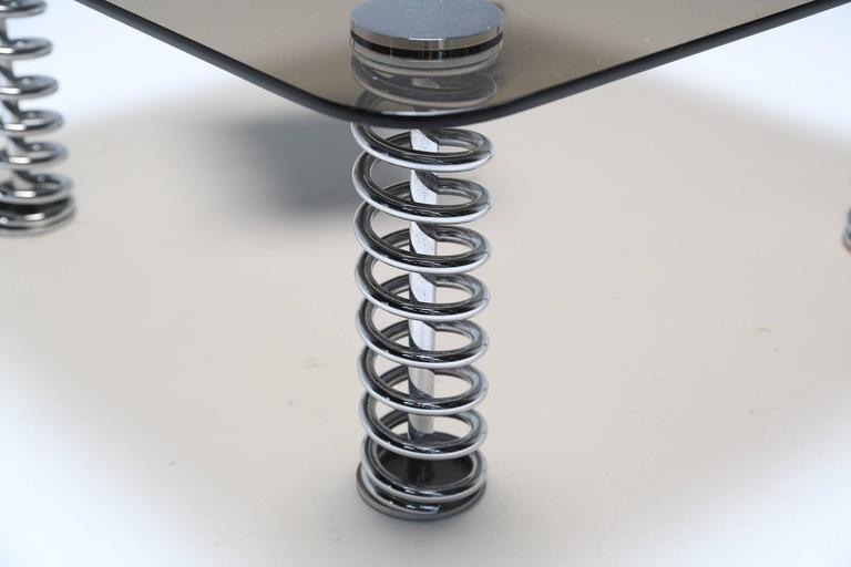 Chrome Spring Coffee Table In Good Condition For Sale In Oberstown, Lusk, IE