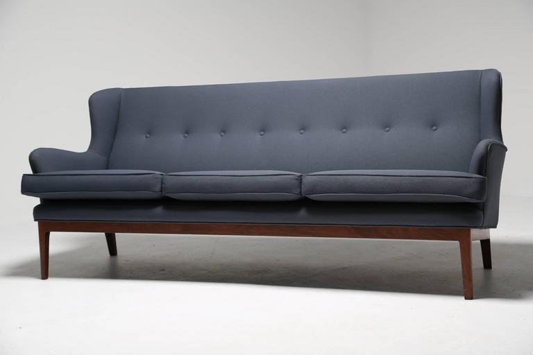 Merveilleux A Mid Century Scandinavian Modern Winged Sofa With Tropical Hardwood Frame  By Arne Norell.