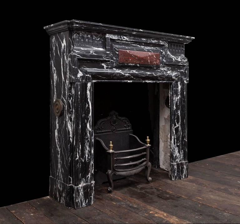 Antique Belgian Marble Fireplace For Sale At 1stdibs