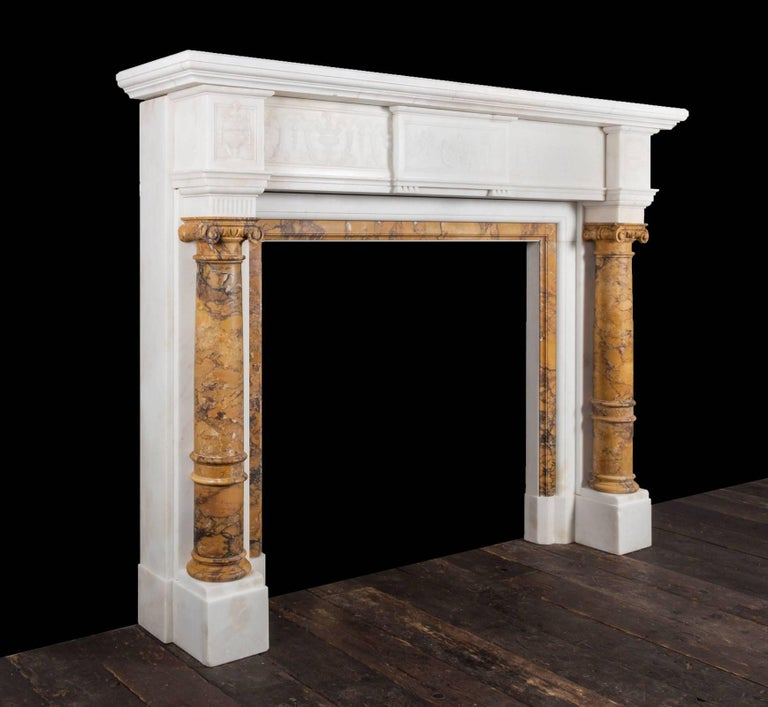 Antique Sienna Marble Fireplace For Sale At 1stdibs