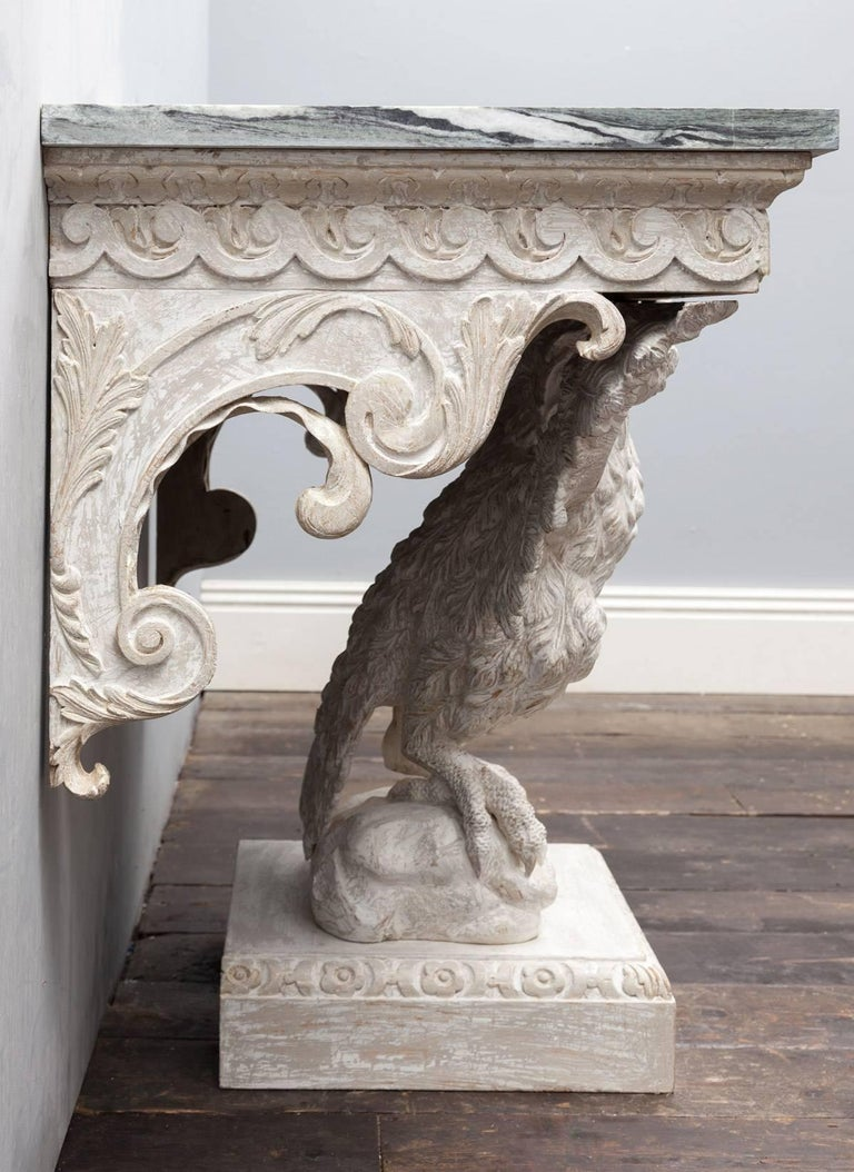 Carved Pair Console Tables For Sale