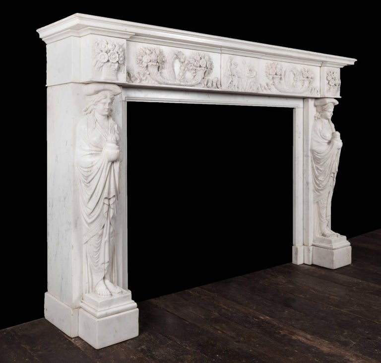 Antique Marble Fireplace For Sale 1