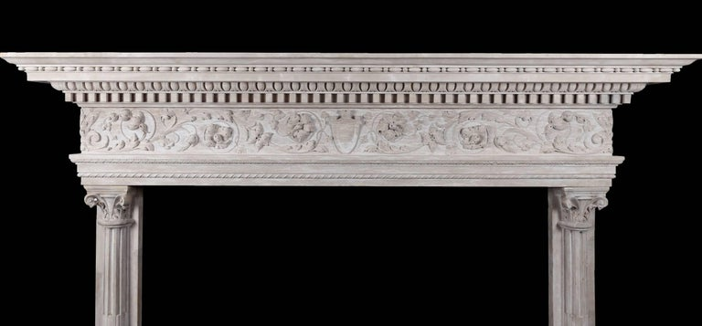 Carved Renaissance Mantel For Sale