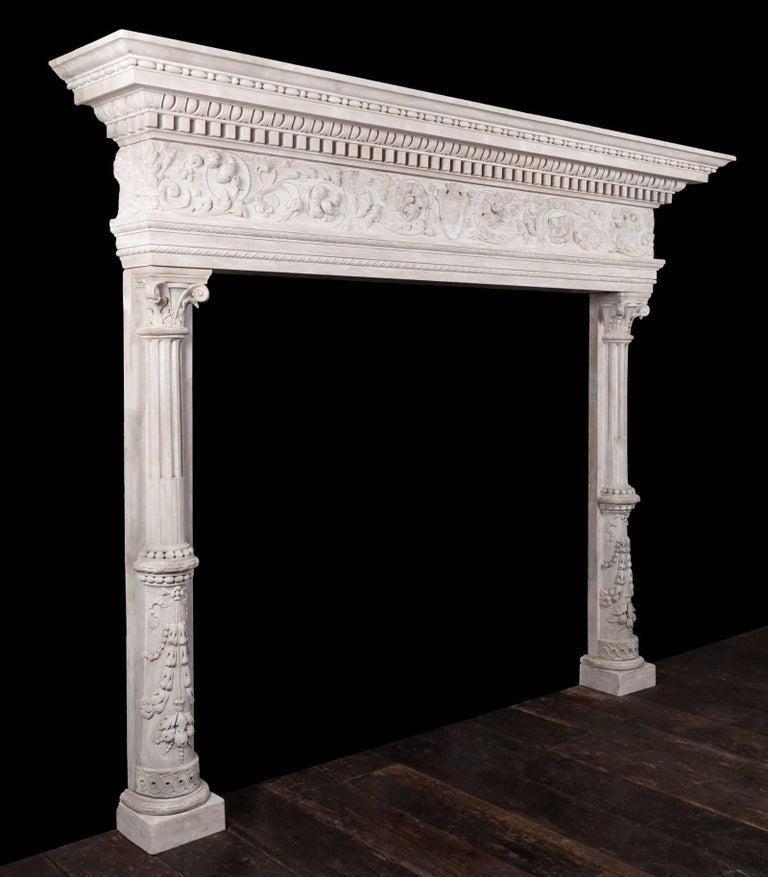 19th Century Renaissance Mantel For Sale