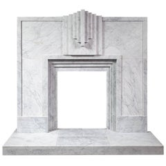 Ryan & Smith Mackintosh, Art Deco Style Carrara Marble Fireplace