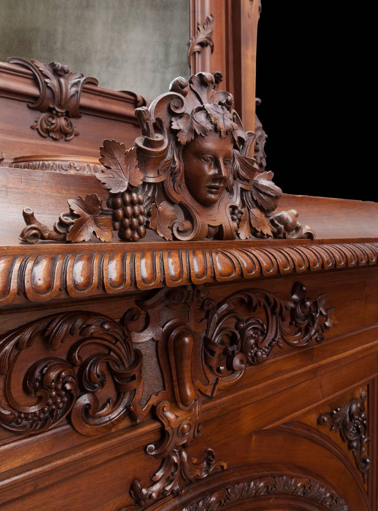 Renaissance Revival Antique Walnut Renaissance Suite For Sale