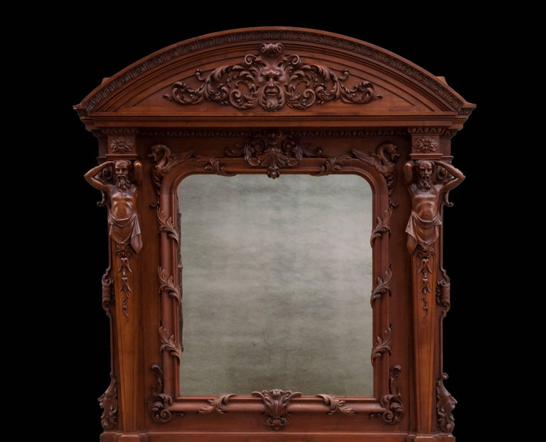 European Antique Walnut Renaissance Suite For Sale