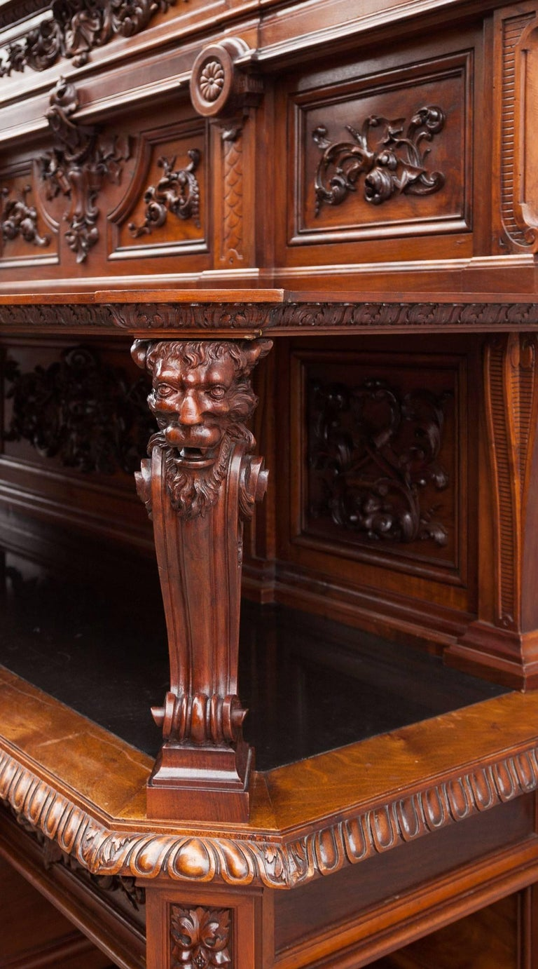 19th Century Antique Walnut Renaissance Suite For Sale