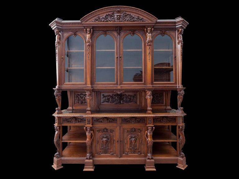 Antique Walnut Renaissance Suite For Sale 1