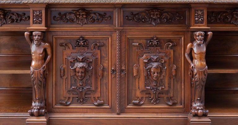 Antique Walnut Renaissance Suite For Sale 3