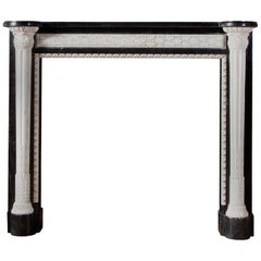 French Empire Style Marble Mantelpiece