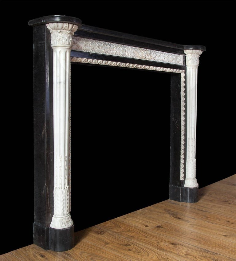 19th Century French Empire Style Marble Mantelpiece For Sale