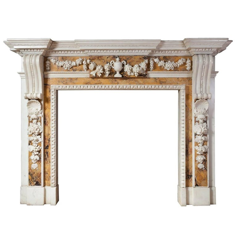 Georgian Sienna Fireplace For Sale