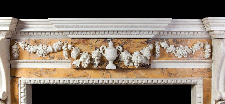 Georgian Sienna Fireplace In Excellent Condition For Sale In Tyrone, Northern Ireland