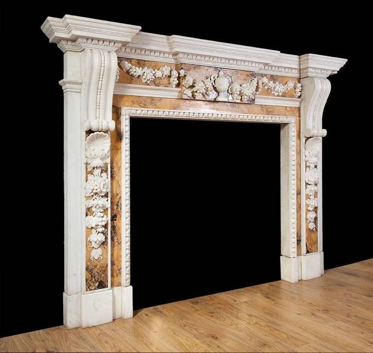 Georgian Sienna Fireplace For Sale 1