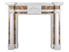 George III Statuary and Sienna Marble Fireplace