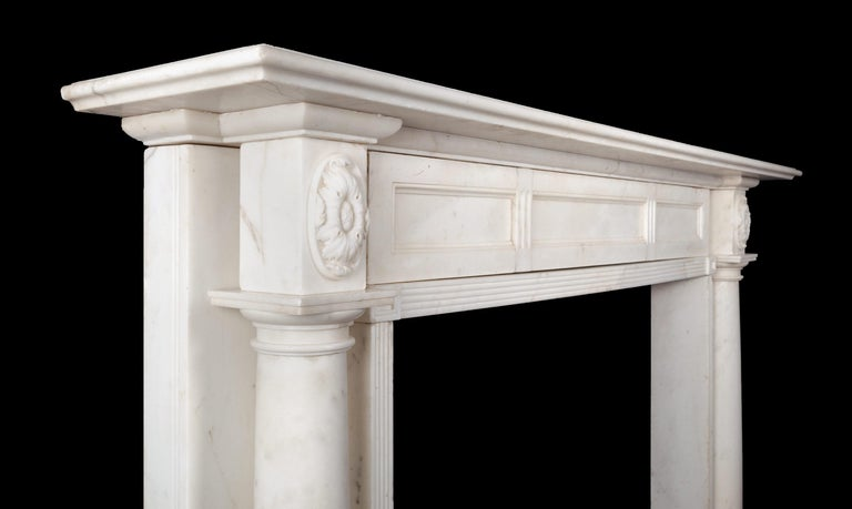 English Regency Marble Fireplace For Sale