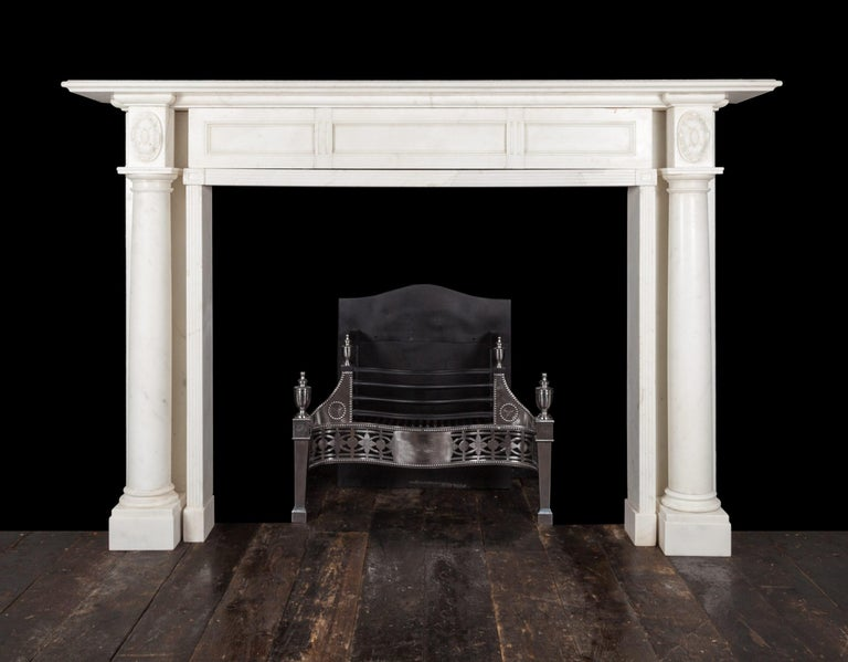 Regency Marble Fireplace In Excellent Condition For Sale In Tyrone, Northern Ireland