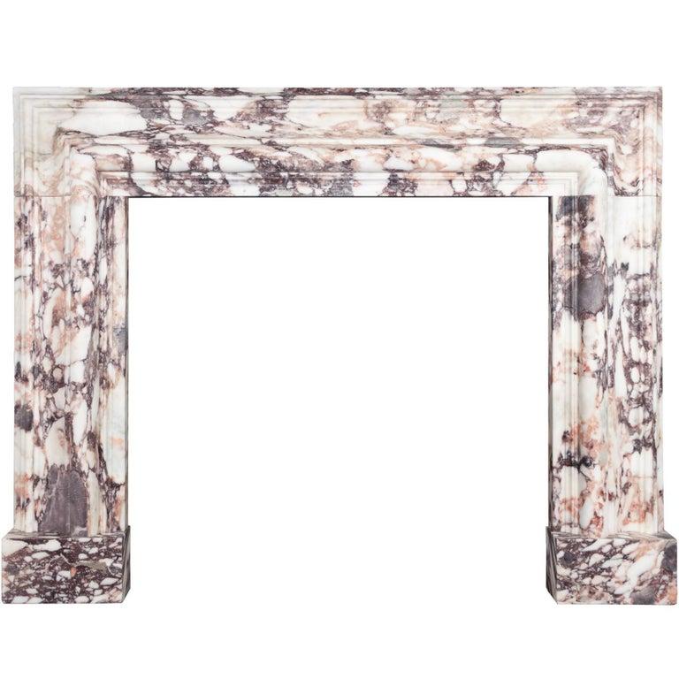 Ryan & Smith Breccia Violetta Bolection Fireplace For Sale