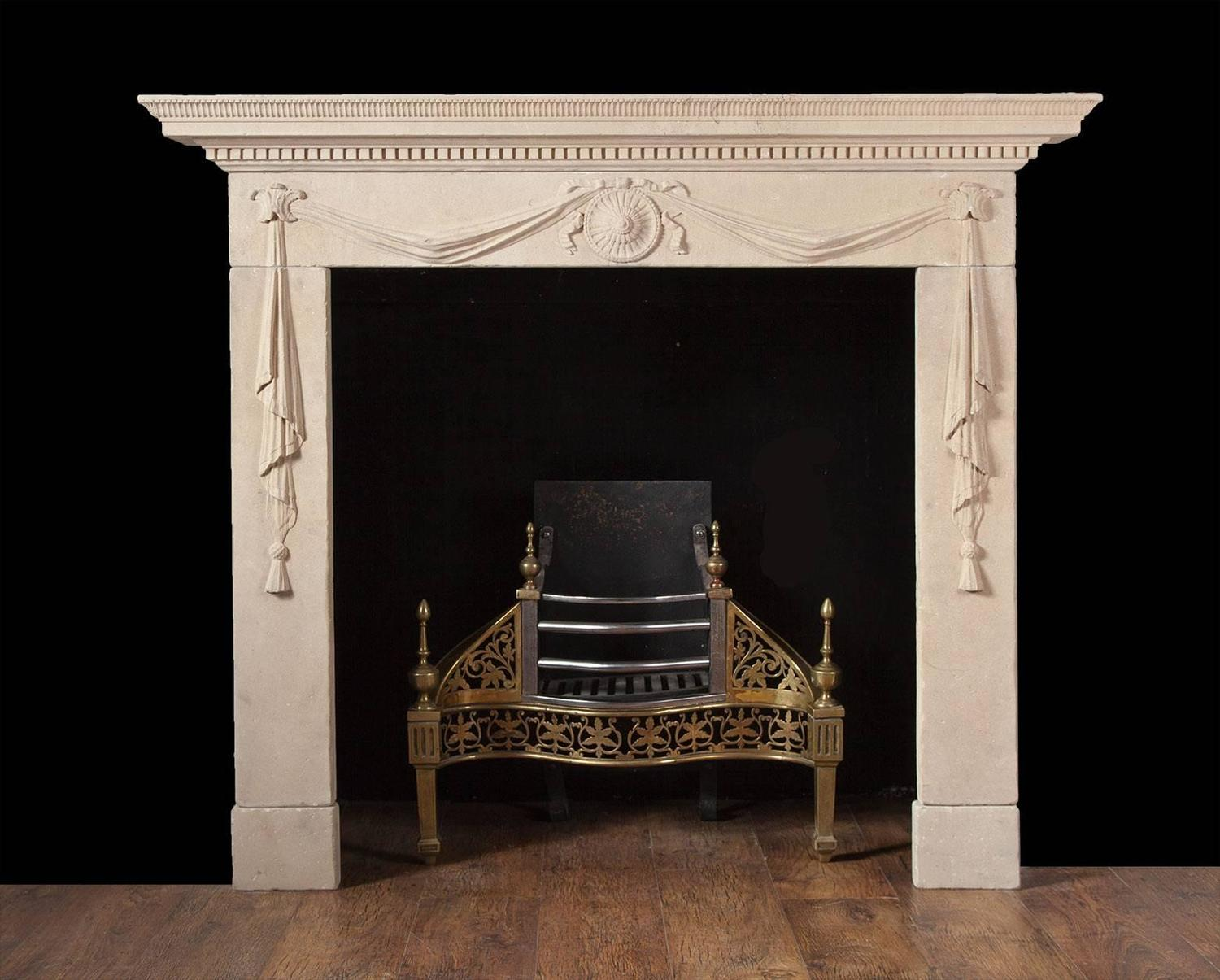 Antique Portland Limestone Fireplace For Sale At 1stdibs