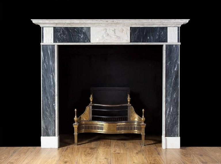 Antique irish georgian marble fireplace for sale at 1stdibs for Marble mantels for sale
