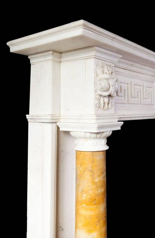 Antique Regency Statuary Marble Fireplace In Excellent Condition For Sale In Tyrone, Northern Ireland