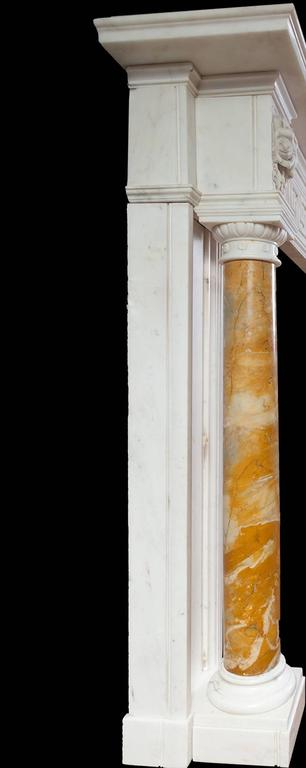Antique Regency Statuary Marble Fireplace For Sale 1