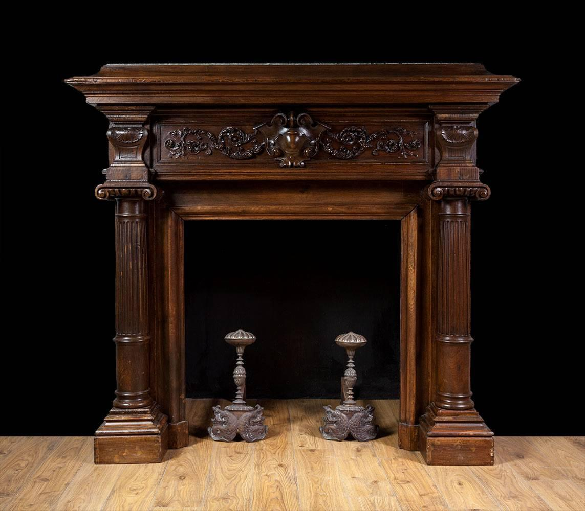 Antique French Walnut Fireplace For Sale at 1stdibs