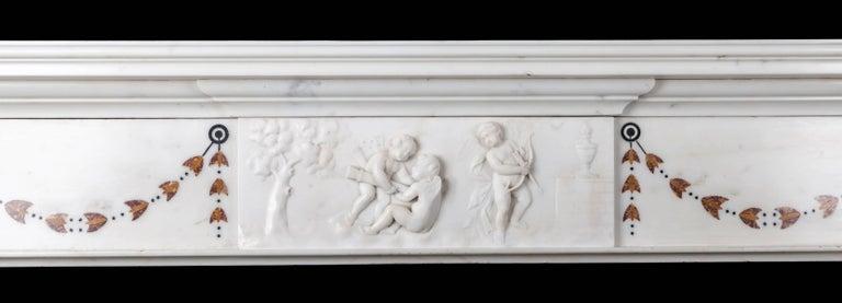 George III Irish Georgian Marble Fireplace For Sale