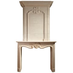 "Louis XIV Style Limestone Fireplace, ""The Paris"""