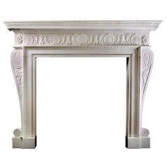 Adam Style Marble Fireplace