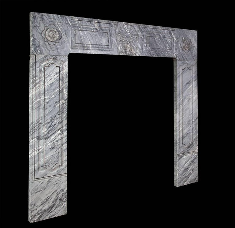 18th Century George II Irish Baroque Marble Chimneypiece For Sale