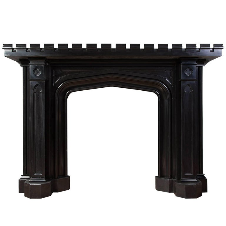 Gothic Marble Mantelpiece For Sale