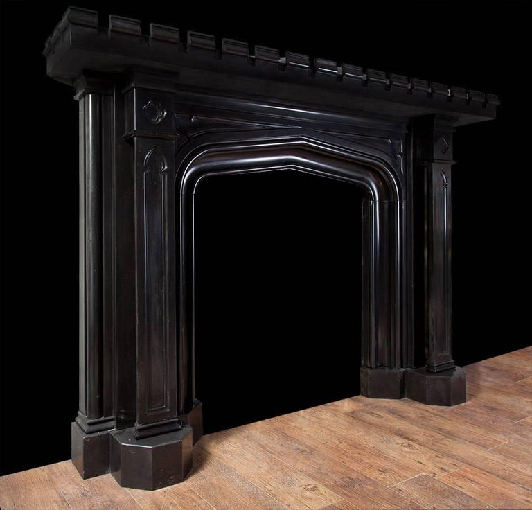 British Gothic Marble Mantelpiece For Sale