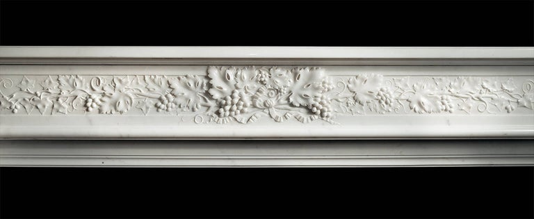 Northern Irish French Louis XVI Style Marble Fireplace For Sale
