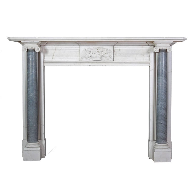 Antique Regency Marble Fireplace