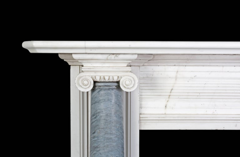 Irish Antique Regency Marble Fireplace For Sale